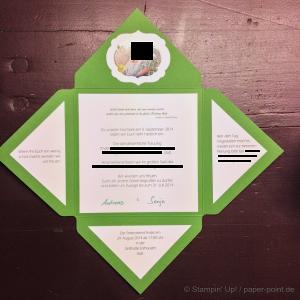 Hochzeit Einladung innen