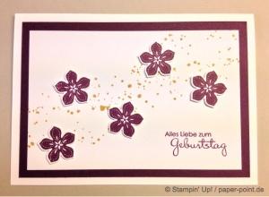 Geburtstagskarte mit Petite Petals
