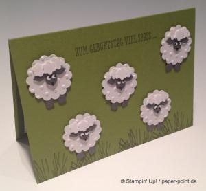 Geburtstagskarte Schafe