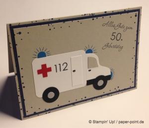 Geburtstagskarte Rettungswagen