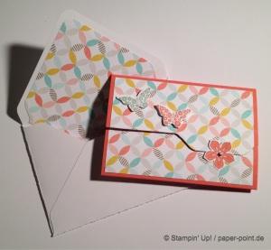 Karte mit Umschlag