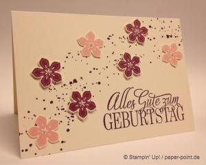 Geburtstagskarte Blüten