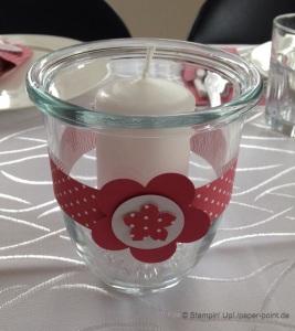 Taufe Kerzenglas