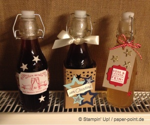 Flaschen dekoriert