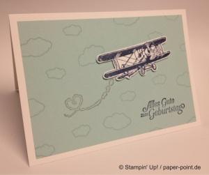 Geburtstagskarte Flieger