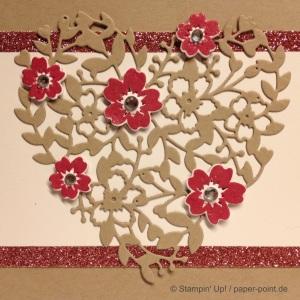 Hochzeitskarte Blühendes Herz