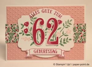 Geburtstagskarte Zahl
