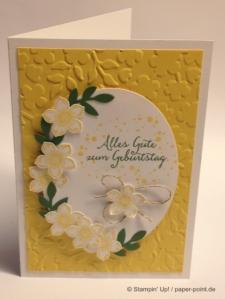 Geburtstagskarte Blumen