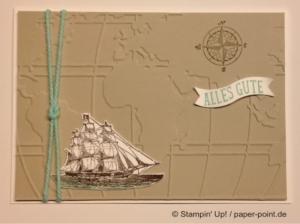 Geburtstagskarte maritim mit Schiff