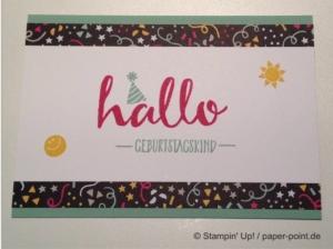 Geburtstagskarte Hallo