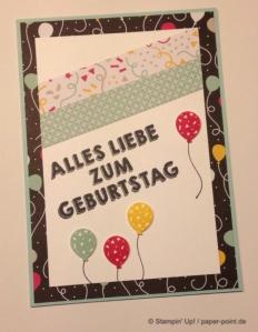Geburtstagskarte Luftballons