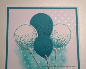 Babykarte Luftballons