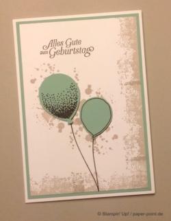 Luftballon-Karte