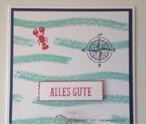 Maritime Geburtstagskarte