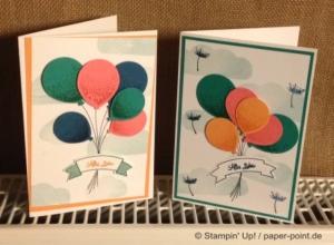 Glückwunschkarte Luftballons