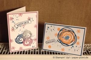 Grußkarte Swirly Bird Wunderbar verwickelt