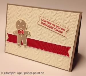 Weihnachtskarte Lebkuchenmännchen