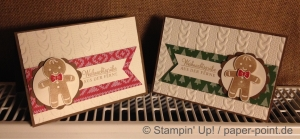Weihnachtskarten Lebkuchenmännchen