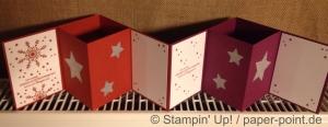 Weihnachtskarten Windlichtkarte innen