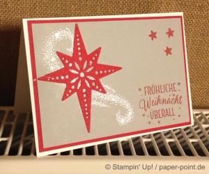 Weihnachtskarte mit Glanz