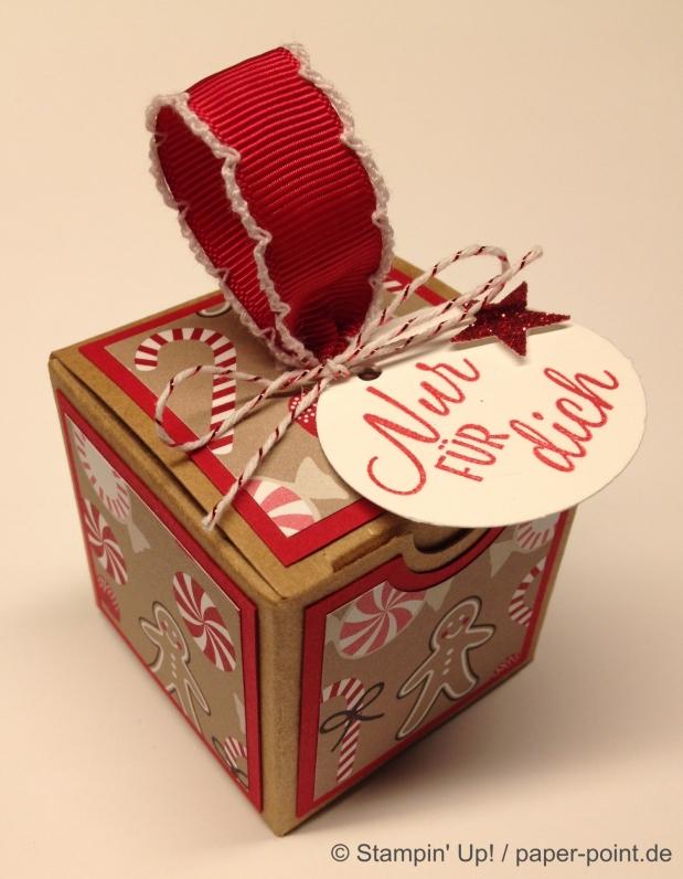 Weihnachtliche Geschenkschachtel