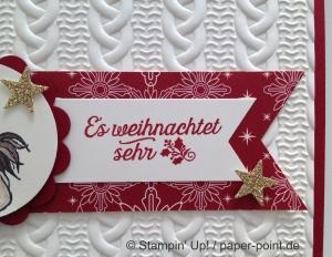 Weihnachtskarte Huhn