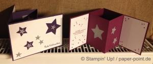 Windlichtkarte Sterne