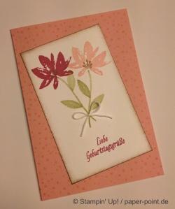 Geburtstagskarte Gartengrüße