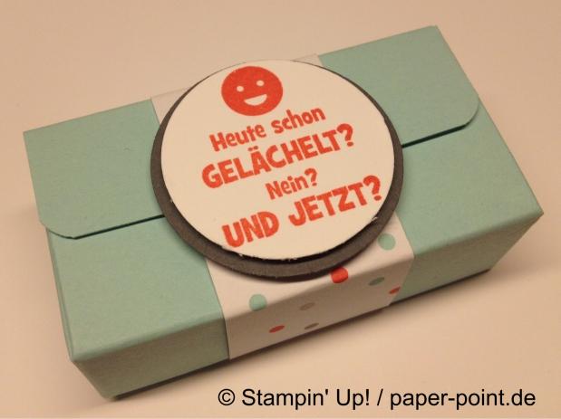 Kleine Schoki-Verpackung