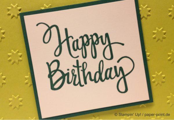 Schnelle Geburtstagskarte – Die2.