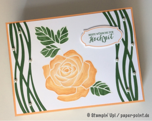 Fotobox Rose mit Perlen