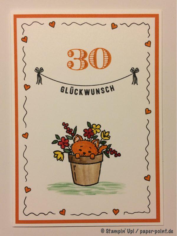 Doodle-Rand zum 30.Geburtstag
